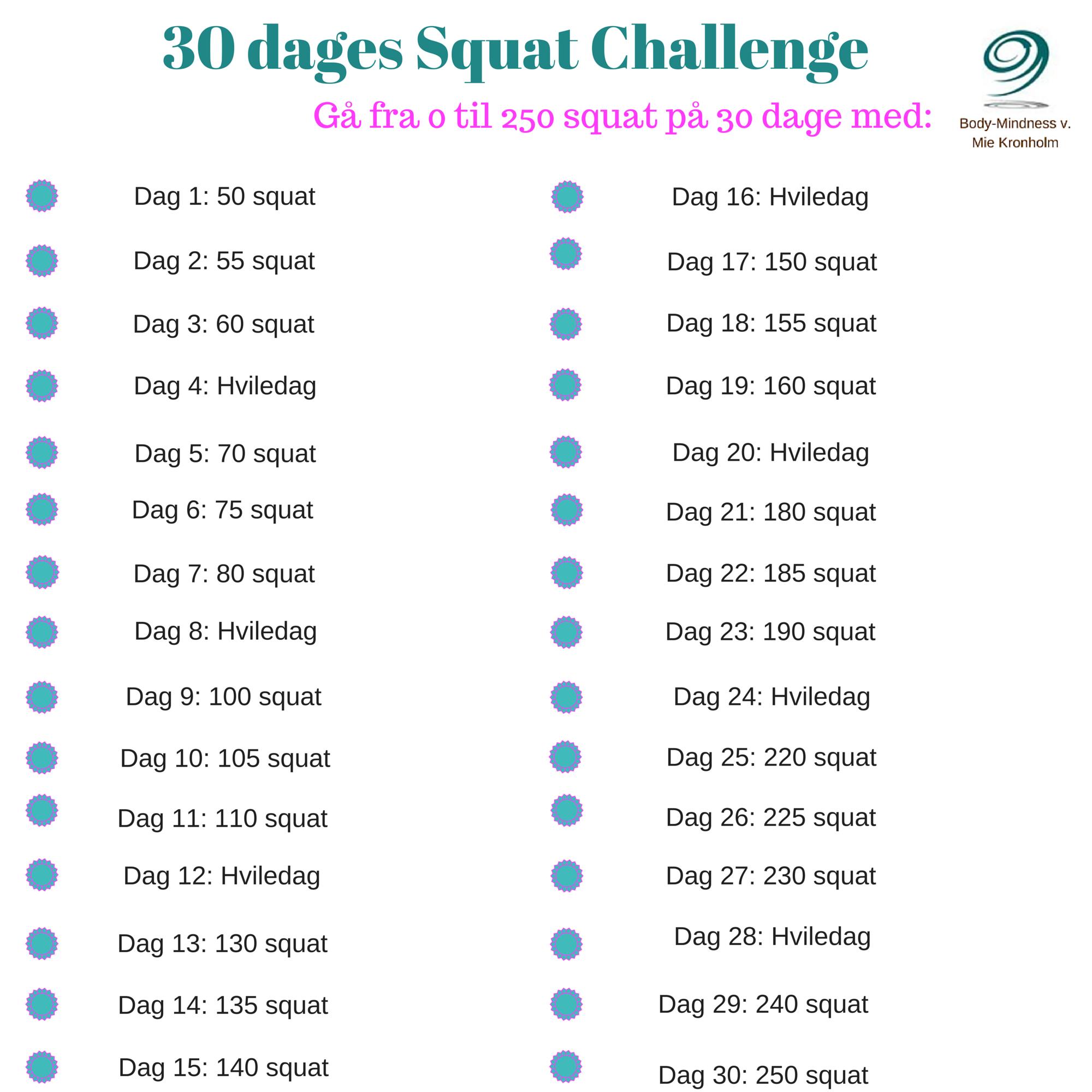 30 dages Squat Challenge